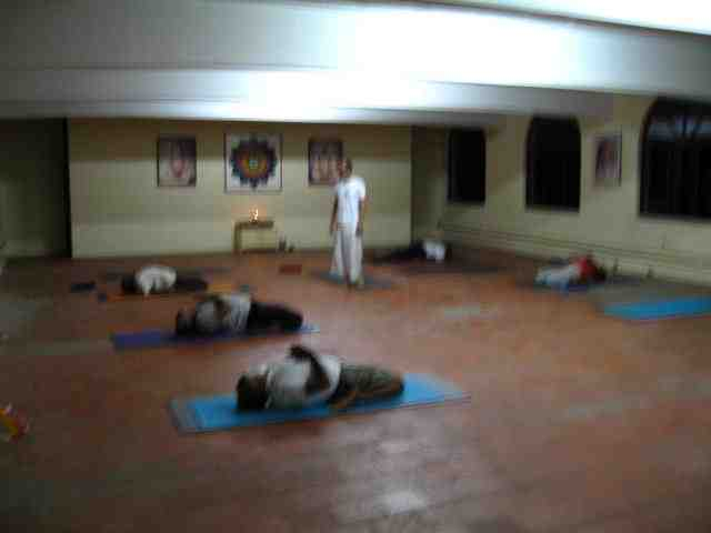 Yoga Class at Integral Yoga Institute, India